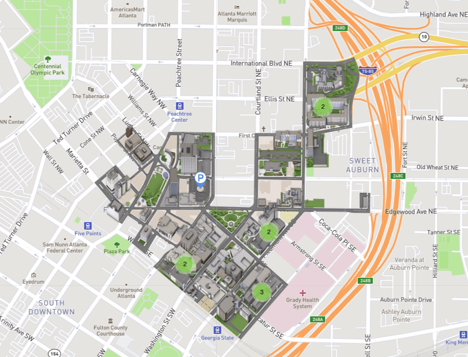 Atlanta Campus Parking Map