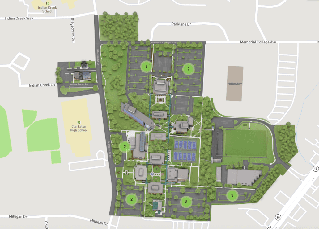 Clarkston Campus Parking Map