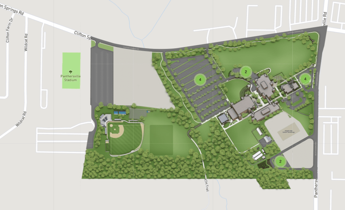 Decatur Campus Parking Map