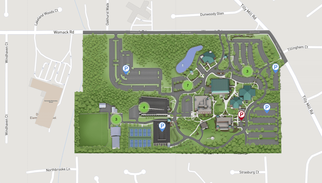 Dunwoody Campus Parking Map